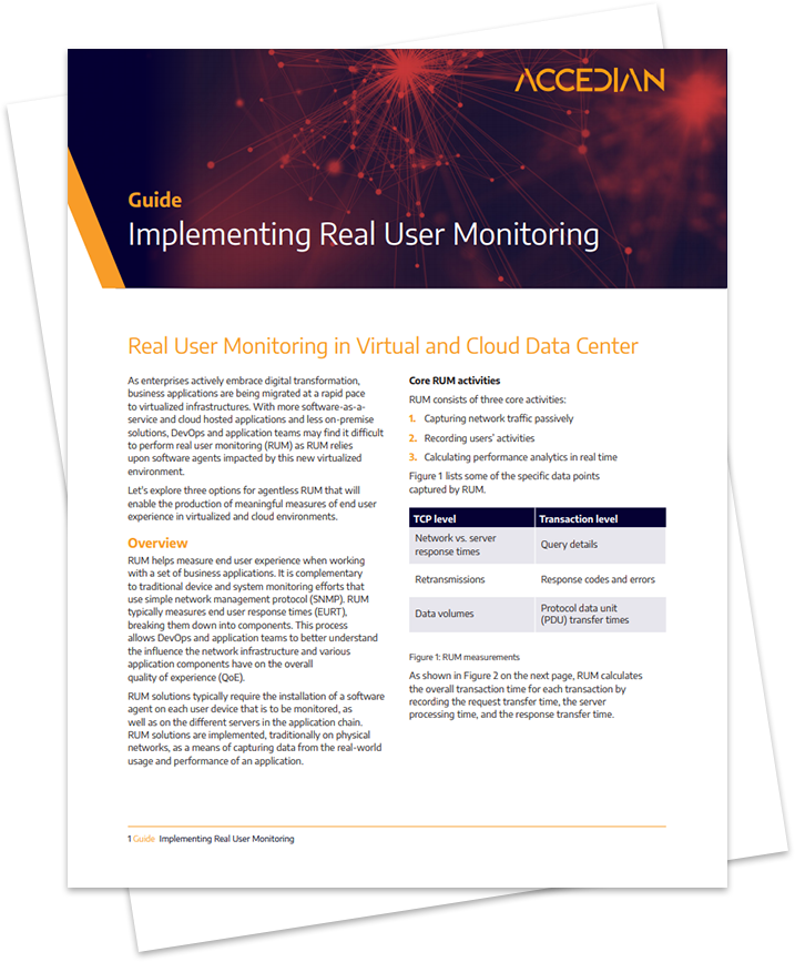 Implementing Real User Monitoring in Virtual & Cloud Data Centers